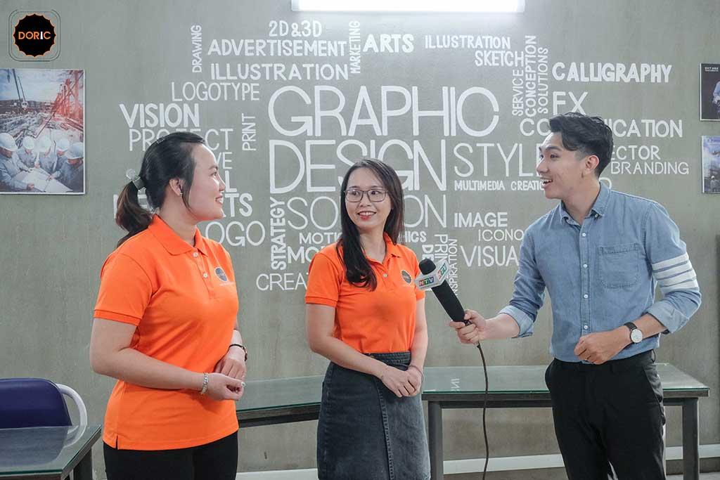 HTV9 phỏng vấn học viên tại Doric