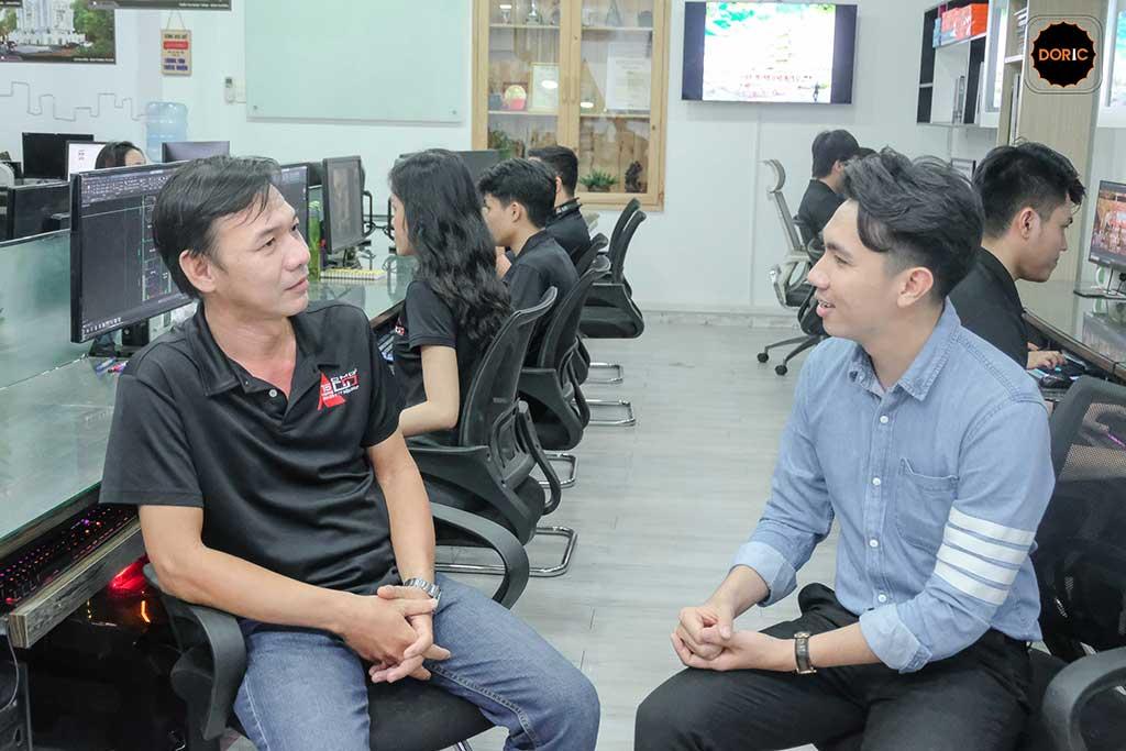 phỏng vấn họa viên tại Doric